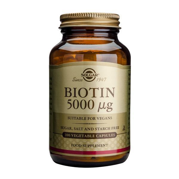 SOLGAR BIOTIN 5000 µg 100 VEG CAPS