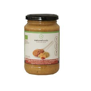 Manteiga de amendoim com cânhamo biológica