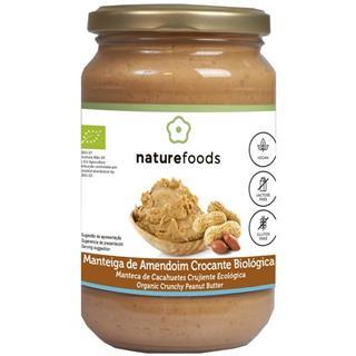 Manteiga de amendoim crocante biológica
