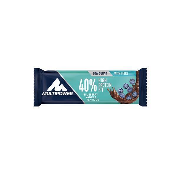 Barra proteica 40% mirtilo baunilha